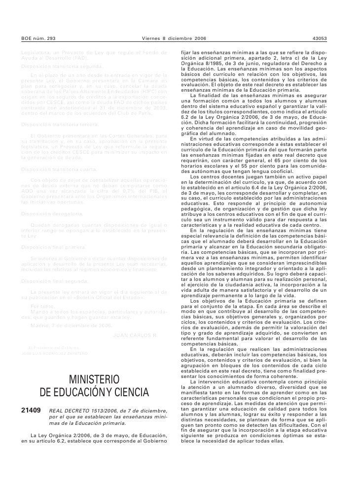 Rd%201513 2006%20 Ensenanzas%20 Primaria