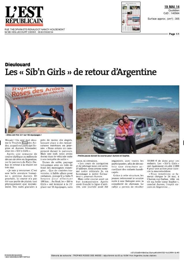 RDA - Presse Régionale 2014