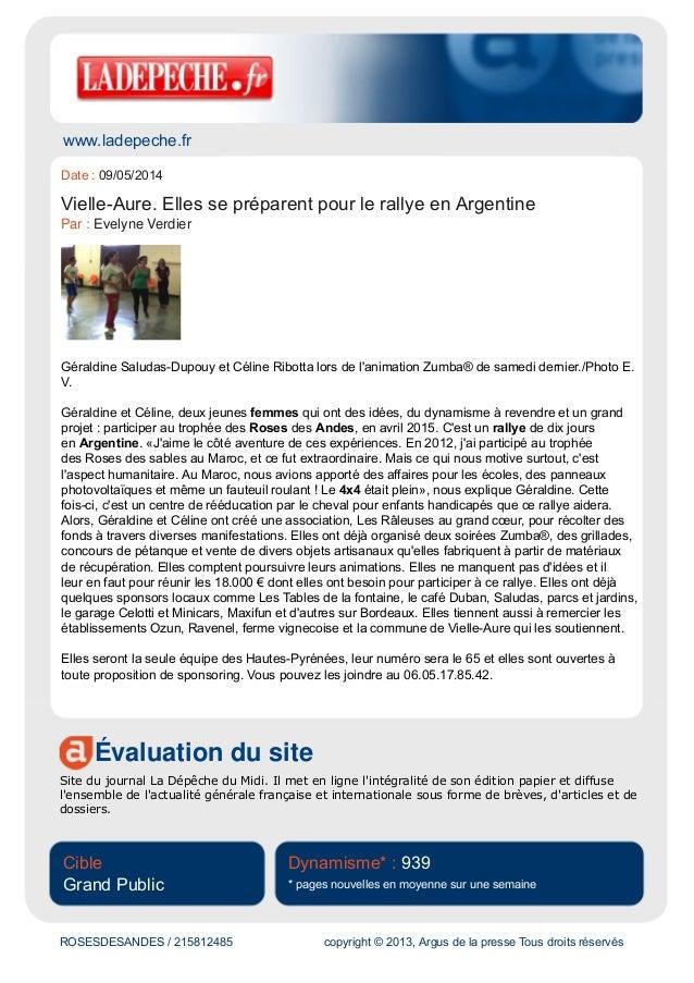 www.ladepeche.fr Évaluation du site Site du journal La Dépêche du Midi. Il met en ligne l'intégralité de son édition papie...