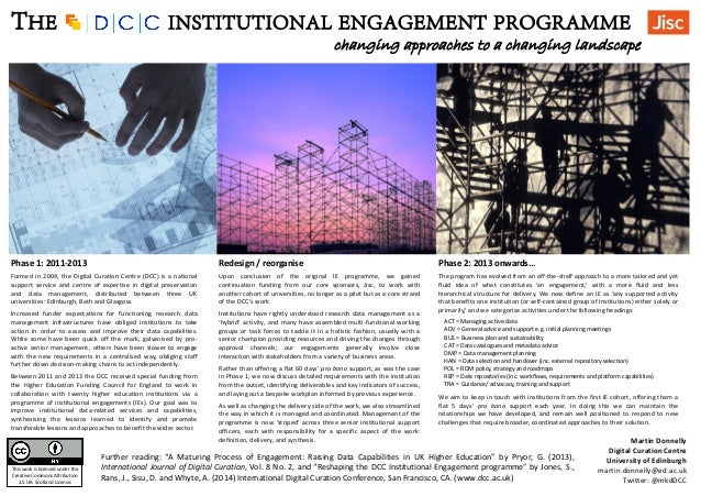 RDAP14 Poster: The DCC's institutional engagement program: changing approaches to a changing landscape