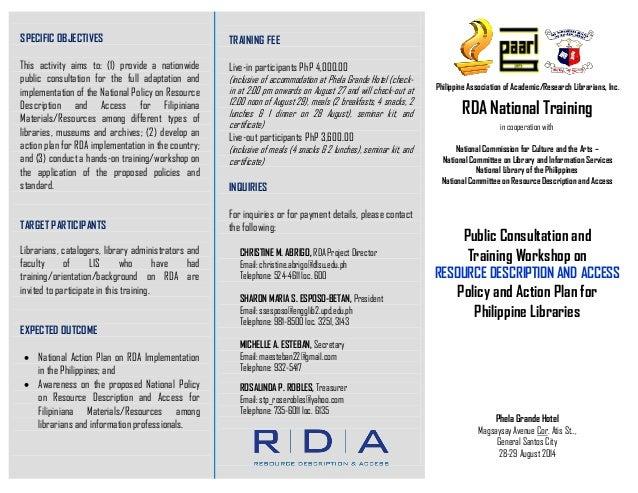 Rda programme in Mindanao - GenSan