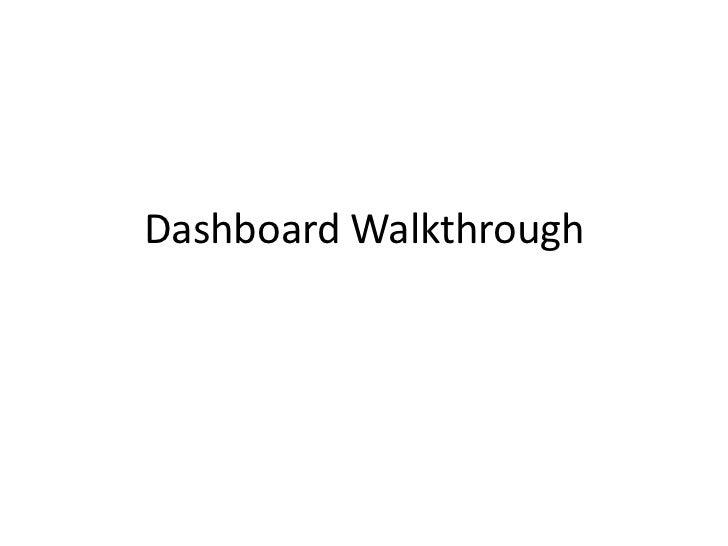 Dashboard Walkthrough