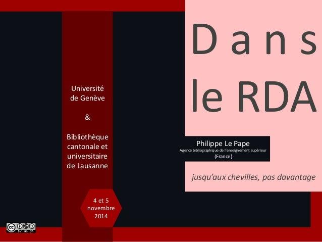 D a n s  le RDA  jusqu'aux chevilles, pas davantage  Université  de Genève  &  Bibliothèque  cantonale et  universitaire  ...