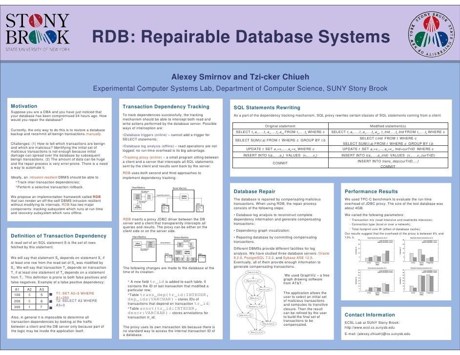 RDB: Repairable Database Systems                                                                                          ...