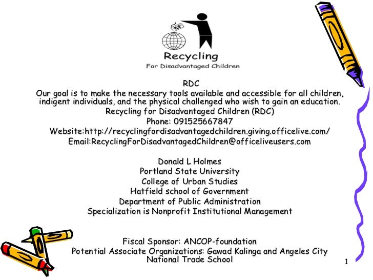 Recycling for Disadvantaged Children and Associates