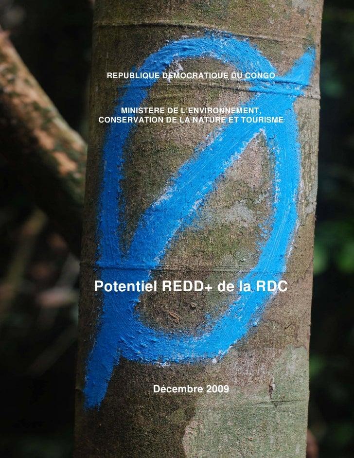 1      REPUBLIQUE DEMOCRATIQUE DU CONGO        MINISTERE DE L'ENVIRONNEMENT, CONSERVATION DE LA NATURE ET TOURISME     Pot...