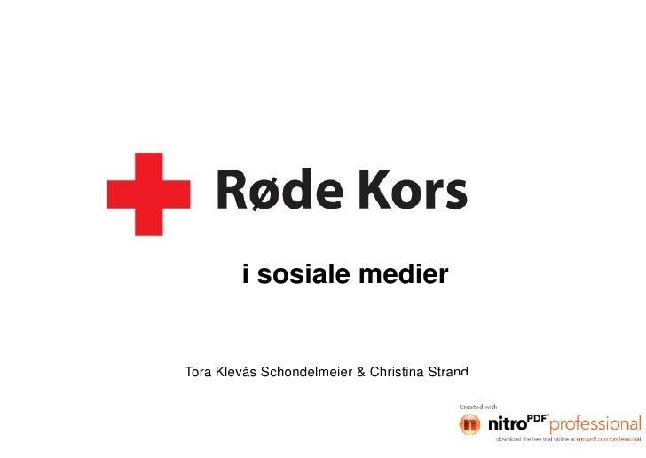 Røde Kors i sosiale medier Gulltaggen 2010