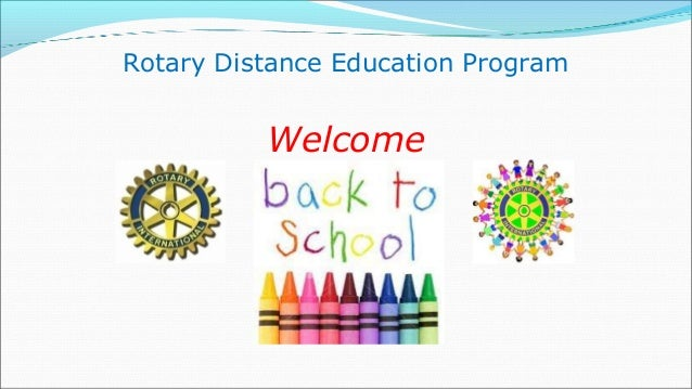 Rotary Distance Education Program          Welcome