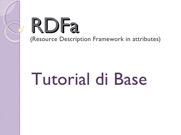 RDFa Tutorial di Base