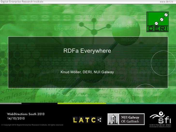 RDFa Everywhere                                                                           Knud Möller, DERI, NUI Galway   ...