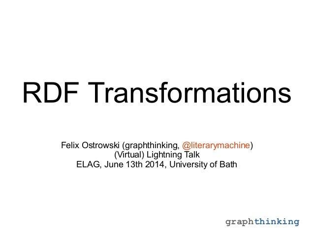 RDF Transformations