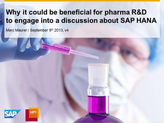 SAP HANA Use Cases for Pharma Research & Development
