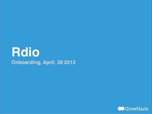 Rdio - Onboarding Flow
