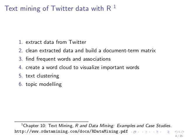 rdm zhao r and data mining Buy r and data mining (9780123969637): examples and case studies: nhbs - yanchang zhao, academic press.