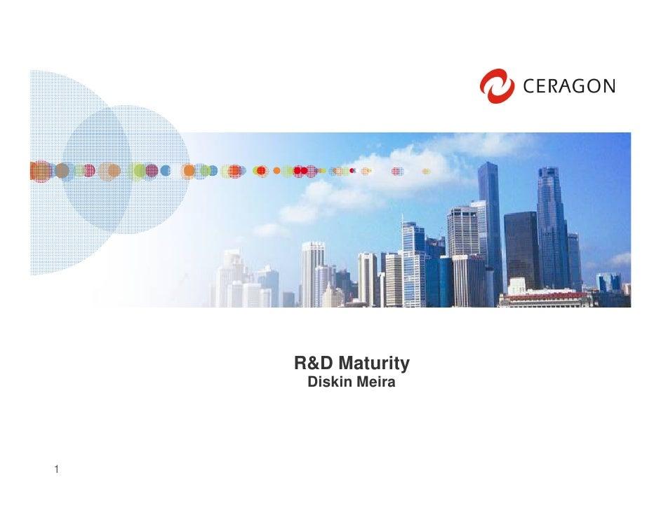 R&D Maturity      Diskin Meira     1
