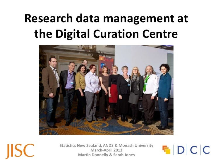 Research data management at the DCC
