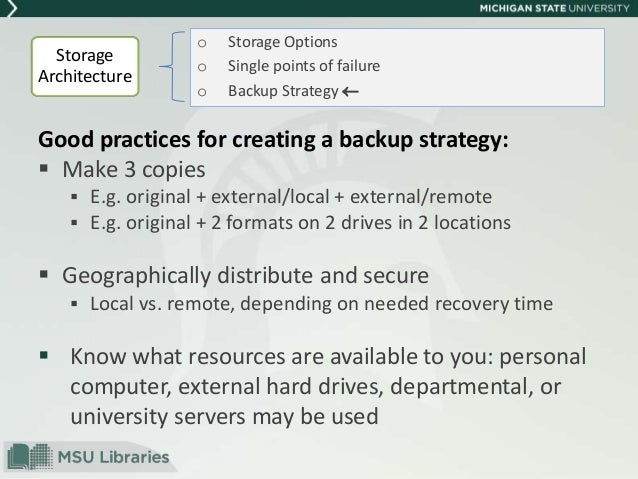 a personal backup strategy for computer assignments Why back up the importance of implementing a backup strategy • european union data protection directive of 2002 concerning the processing of personal data and.