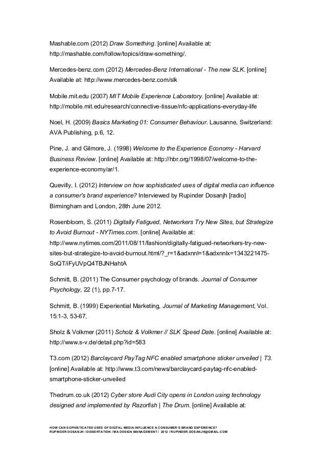 branding dissertation subjects
