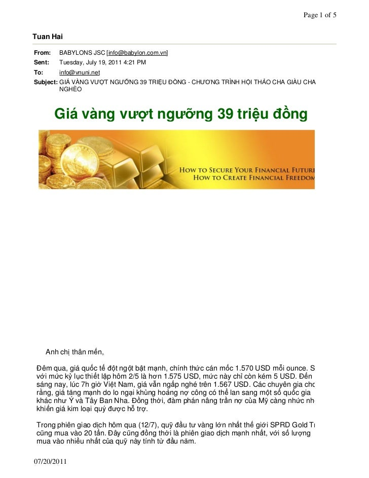 Page 1 of 5Tuan HaiFrom:     BABYLONS JSC [info@babylon.com.vn]Sent:     Tuesday, July 19, 2011 4:21 PMTo:       info@vnun...
