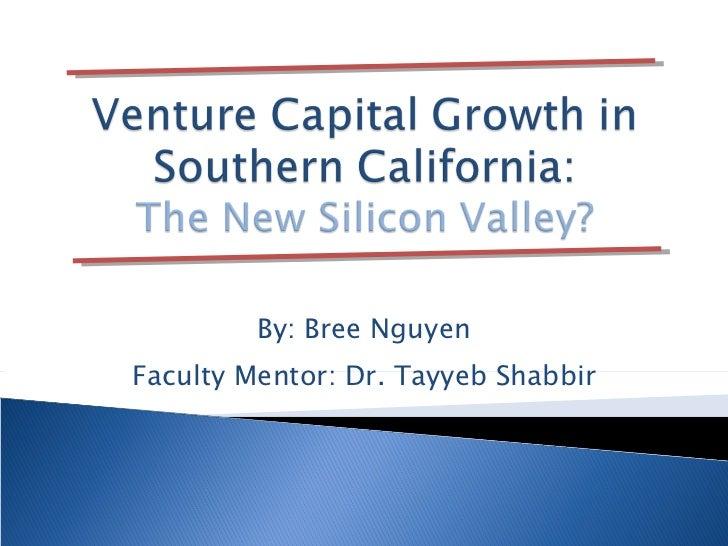 By: Bree Nguyen Faculty Mentor: Dr. Tayyeb Shabbir
