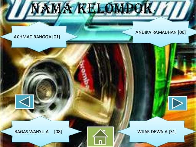 Nama kelompok: ACHMAD RANGGA [01]  BAGAS WAHYU.A  [08]  ANDIKA RAMADHAN [06]  WIJAR DEWA.A [31]