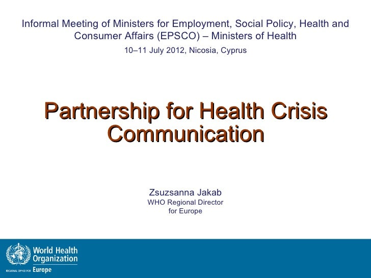 Partnership for health crisis communication