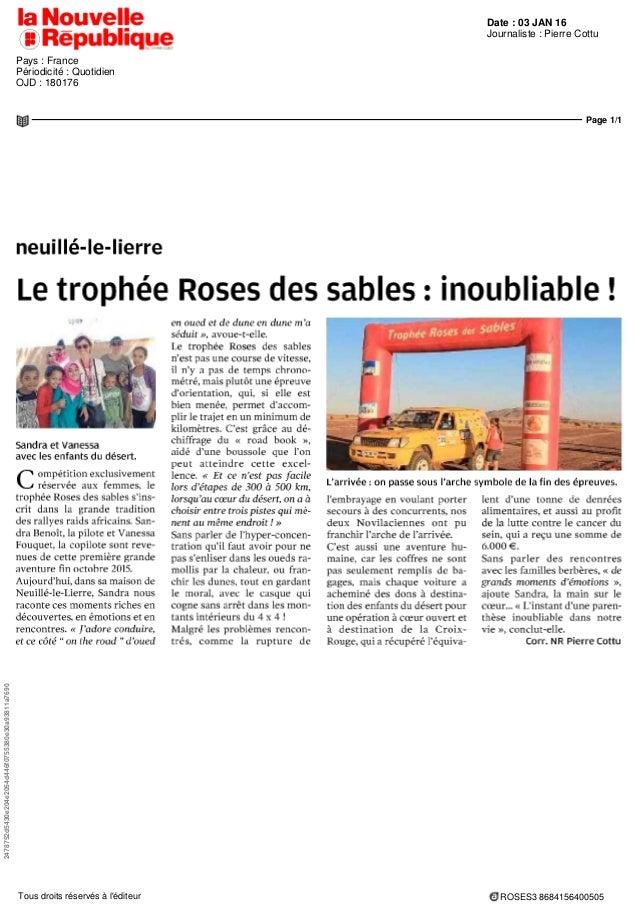 Date : 03 JAN 16 Pays : France Périodicité : Quotidien OJD : 180176 Journaliste : Pierre Cottu Page 1/1 2478752d5430e204e2...