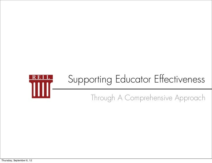 Supporting Educator Effectiveness