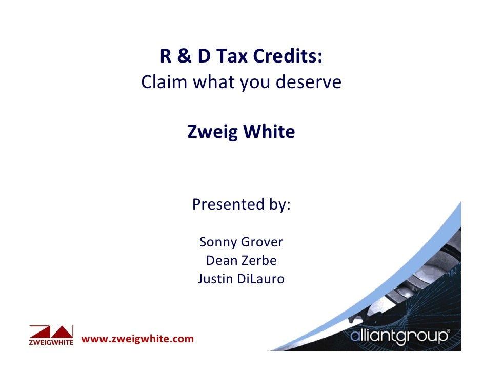 R&D Tax CreditsR&DTaxCredits:Claimwhatyoudeserve