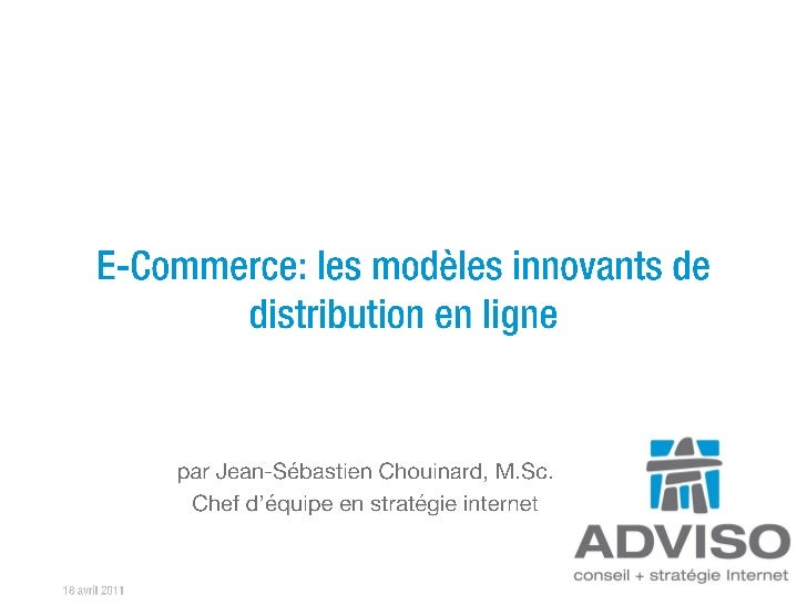 E-commerce: les modèles innovants de distribution en ligne | RDV web infopresse