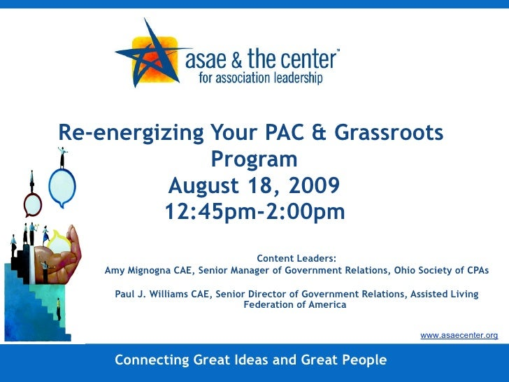 Re-Energizing Your PAC and Grassroots Program