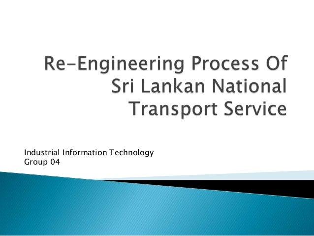 Re engineering process of sri lankan national transport service