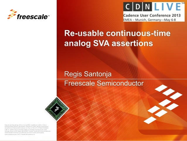 Re usable continuous-time analog sva assertions - slides