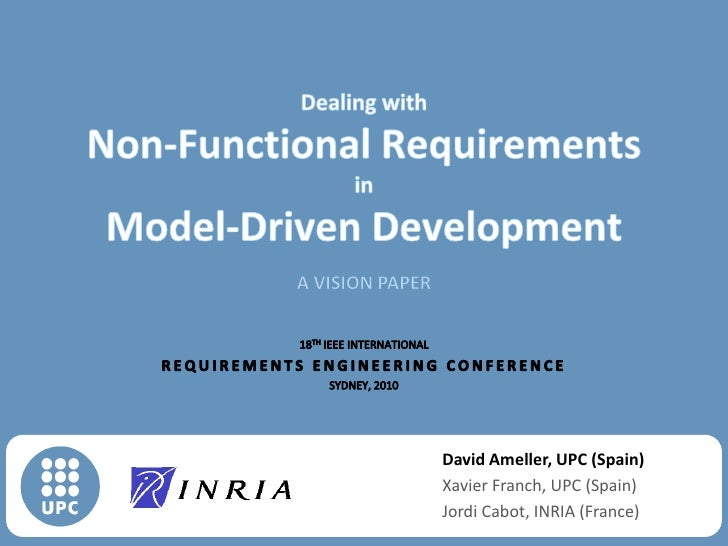 Dealing with non-functional requirements in Model-driven development