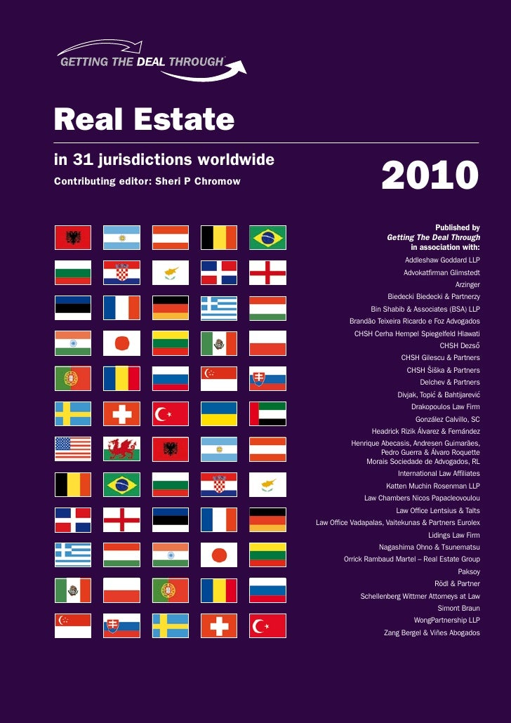 Russia Chapter for Getting the Deal Through Real Estate 2010 edition