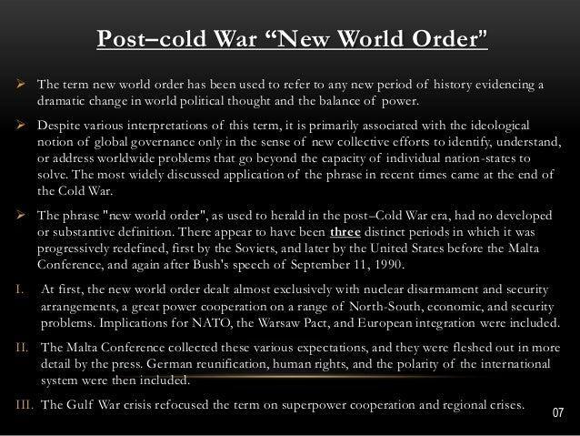 new world order dissertation Ttip – the sign of a new world order international business and politics bachelor thesis may 2014 caroline vindbæk ballieu petersen 1 abstract.