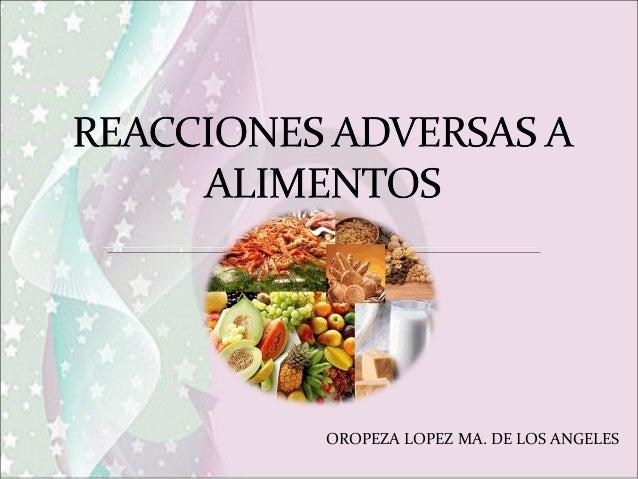 Reacciones Adversas a Alimentos