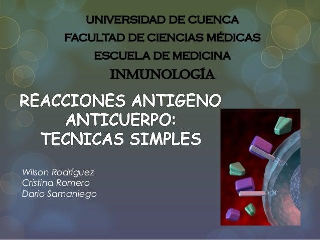 Reacciones Antigeno Anticuerpo