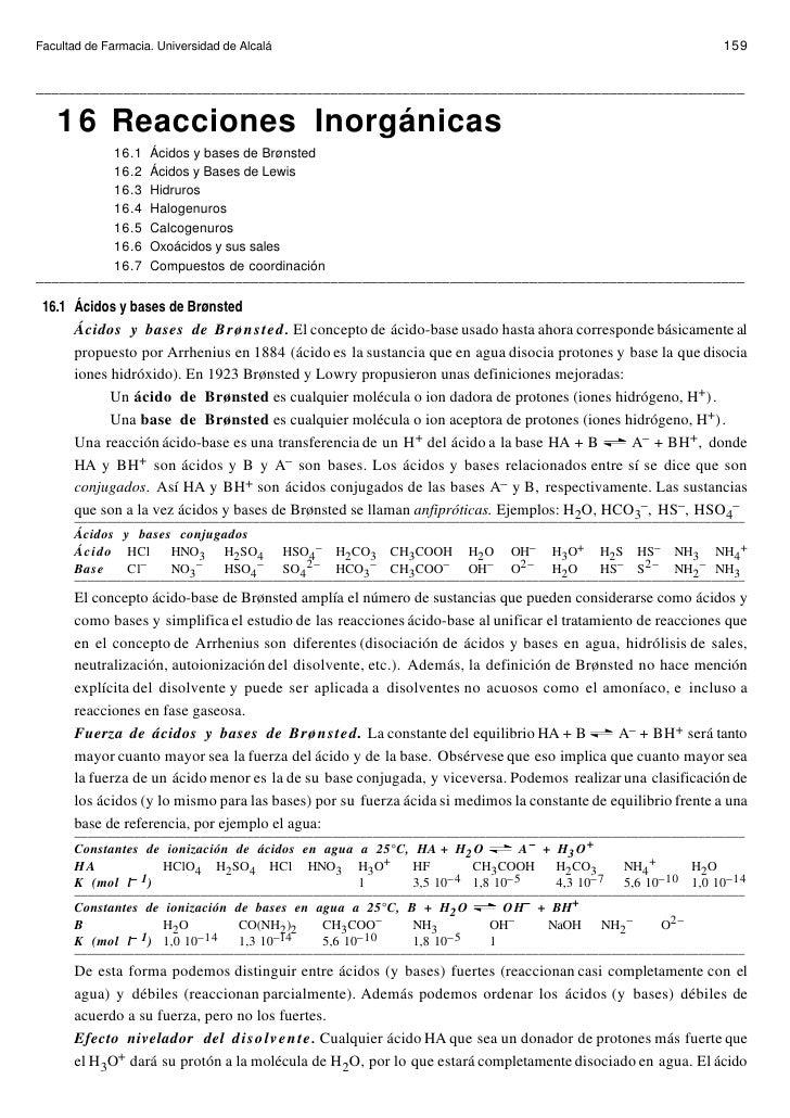 Facultad de Farmacia. Universidad de Alcalá                                                                     159   ____...