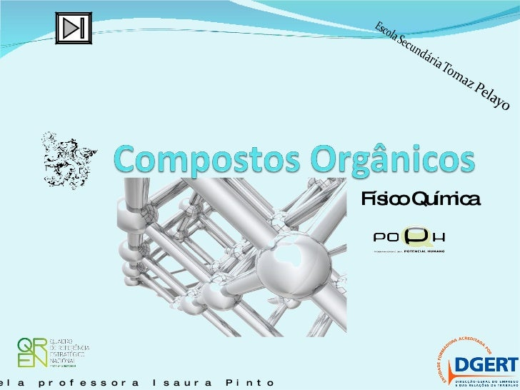 Físico Química Orientado pela professora Isaura Pinto