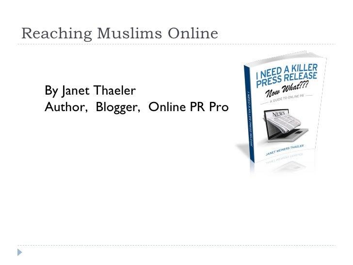 Reaching Muslims Online