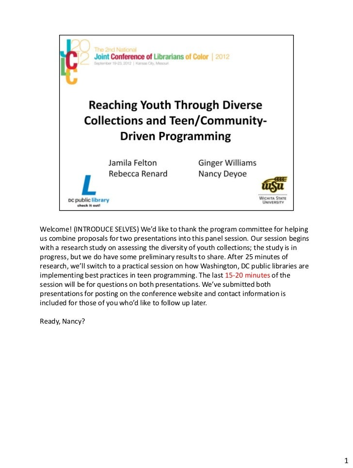 Reaching youth through diverse collections
