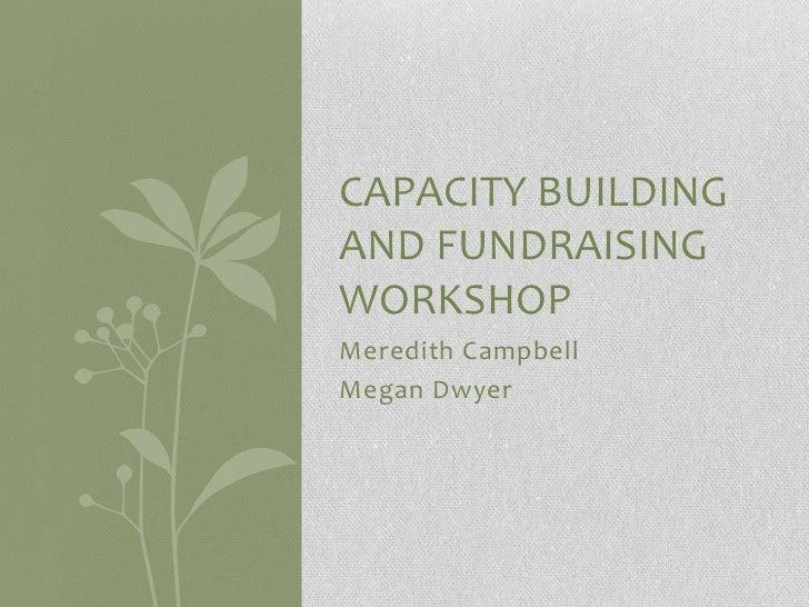 Fundraising Capacity Building