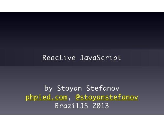 Reactive JavaScript