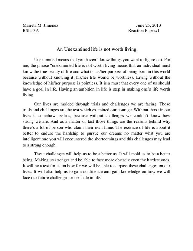 The Unexamined Life Is Not Worth Living Meaning Essay In Spanish - image 6