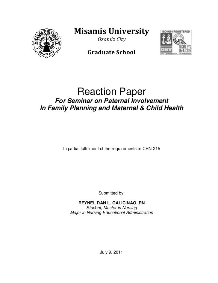 reaction paper about reproductive health Reproductive health: how does smoking during pregnancy harm my health and my baby.