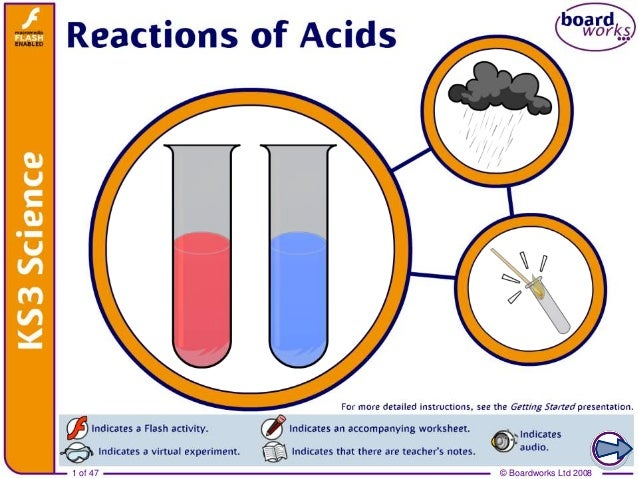 reactions of acids An acid–base reaction is a chemical reaction that occurs between an acid and a  base, which can be used to determine ph several theoretical frameworks.