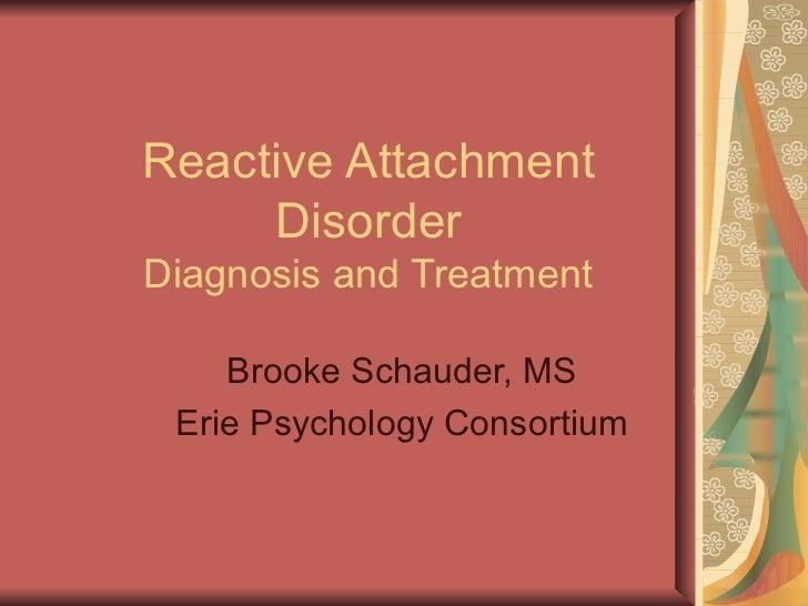 dating noen med reactive attachment disorder