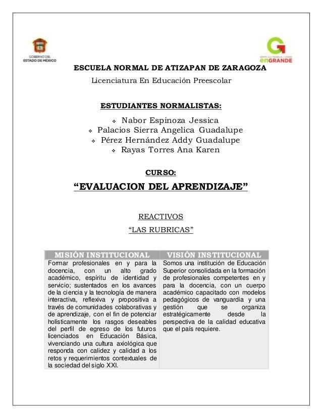 ESCUELA NORMAL DE ATIZAPAN DE ZARAGOZA Licenciatura En Educación Preescolar ESTUDIANTES NORMALISTAS:  Nabor Espinoza Jess...