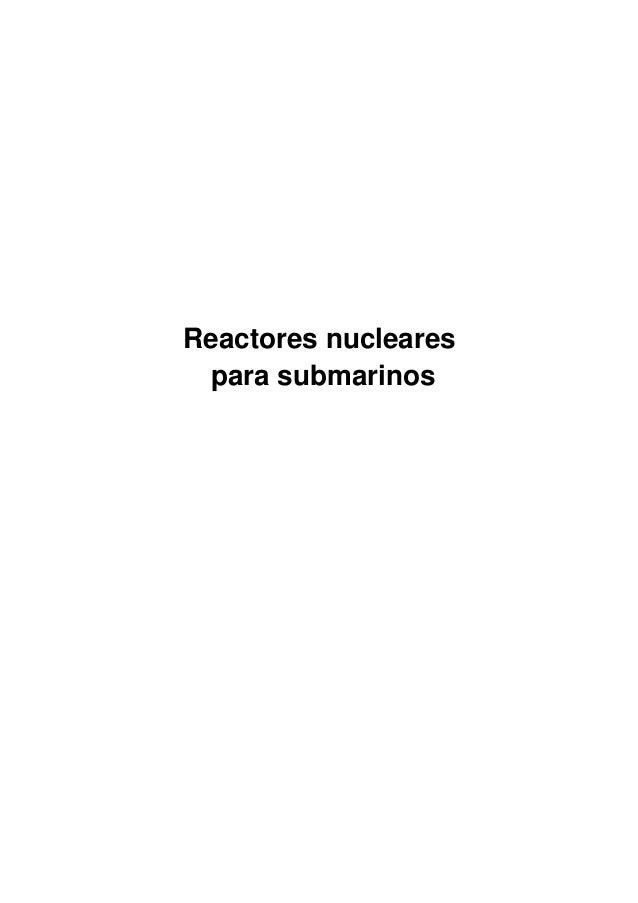 Reactores nucleares para submarinos